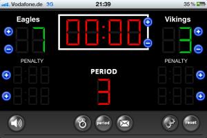 Handyscreenshot vom Spiel Eagles vs. Vikings